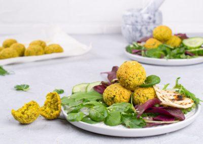 Protein Rich Falafel Salad with Tzatziki