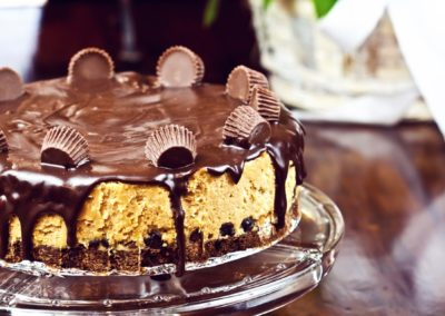 Raw Vegan Chocolate Peanut Butter Cheesecake